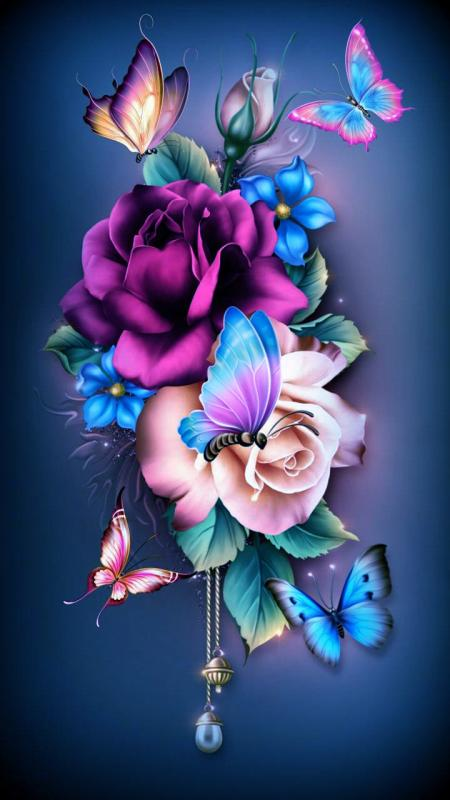 Free Butterfly Flowers Wallpaper For Your Phone
